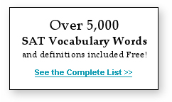 Over 5,000 SAT words included free with StudyMinder Flash Cards!