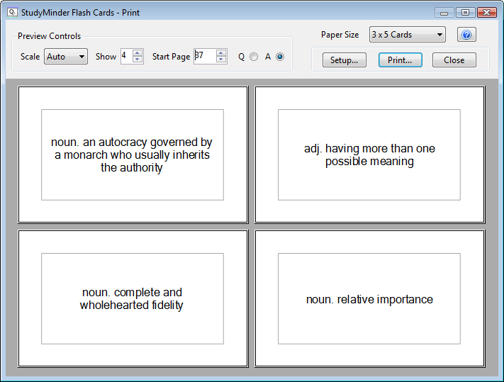 How To Print Flashcards In Word  PetitComingoutpolyCo